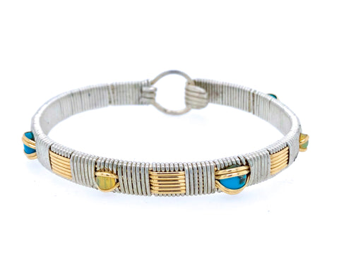 Opal and Turquoise Elite Classic Bangle Bracelet