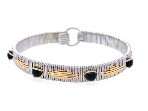Black Onyx Elite Southwest Bangle Bracelet