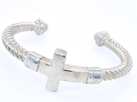 Cuff Bracelet Cross Rope
