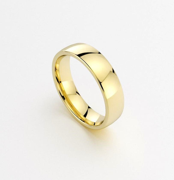 Classic Men's Wedding Band 6mm