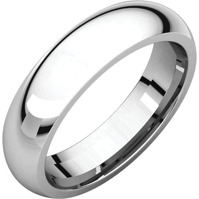 5 mm Platinum Comfort Fit Classic Wedding Band