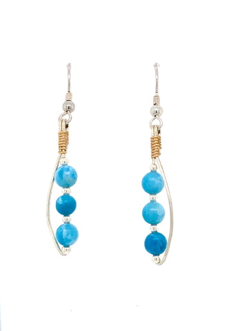 Earrings Larimar Equality