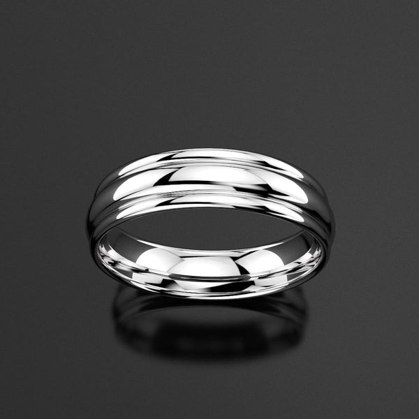 Classic Grooved Men's Wedding Band