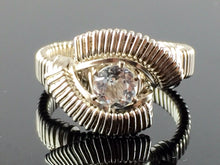 Load image into Gallery viewer, Classic White Topaz Wire Wrapped Ring