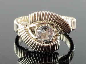Classic White Topaz Wire Wrapped Ring