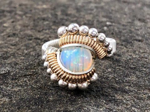 Ethiopian Opal Beaded Ring