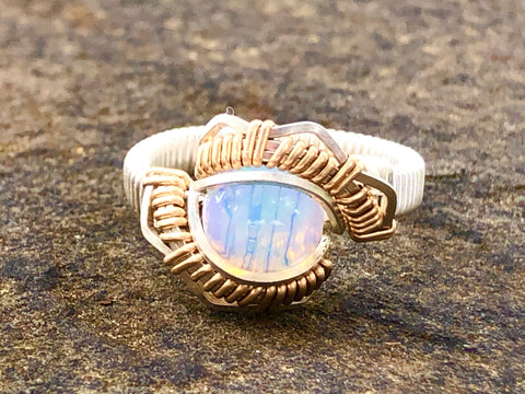 Ethiopian Opal Energy Ring