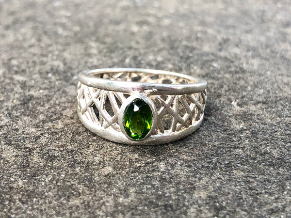 Green Tourmaline Petite Connection Ring