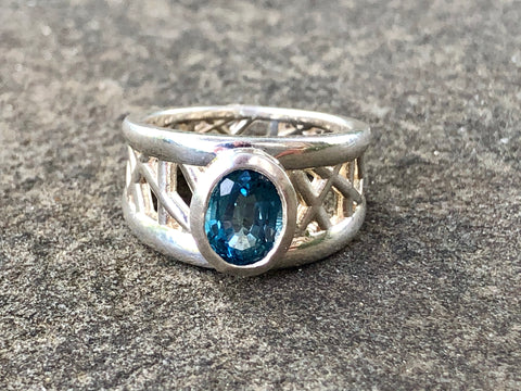 London Blue Topaz Connection Ring