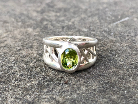 Peridot Connection Ring