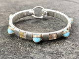 Classic Larimar Elite Bangle Bracelet