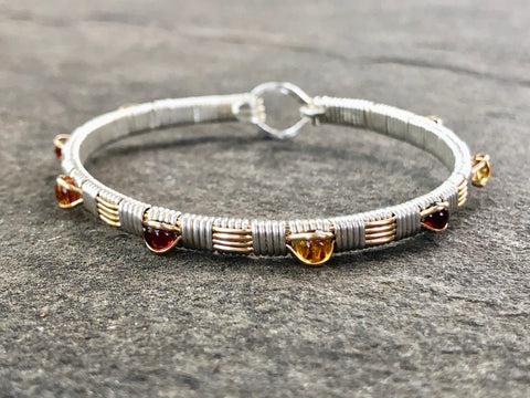 College Colors Classic Gemstone Bangle (Virginia Tech)