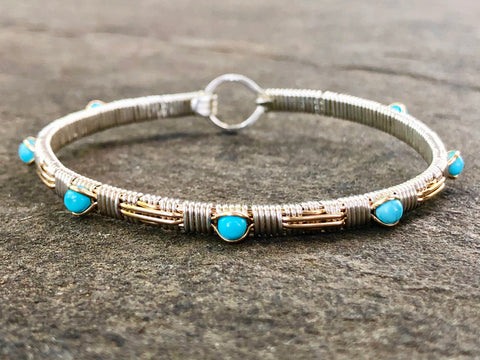 Turquoise Southwest Bangle Bracelet