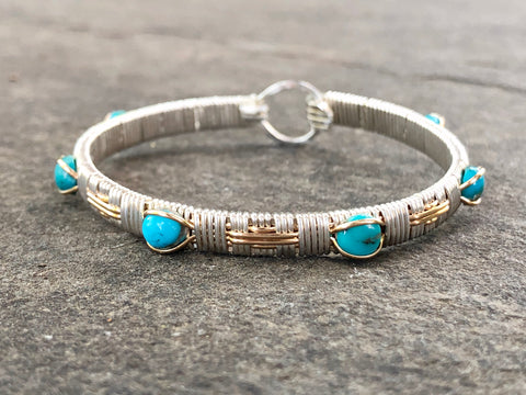 Turquoise Elite Southwest Bangle Bracelet