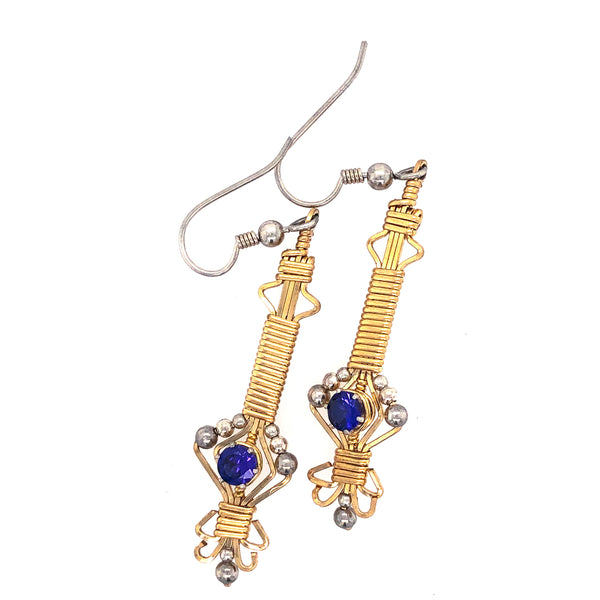 Byzantine Gemstone Earrings (Choose Stone)