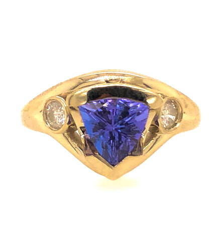 Trillion Tanzanite Flow Ring