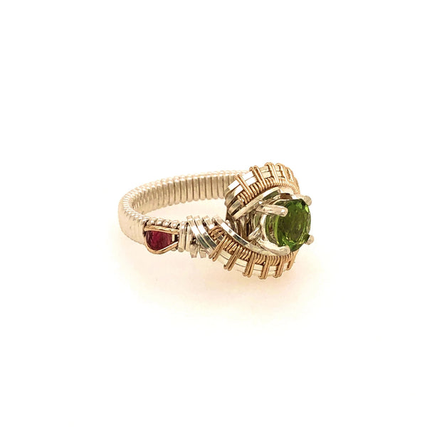 Appetite and Pink Tourmaline Pulse Ring