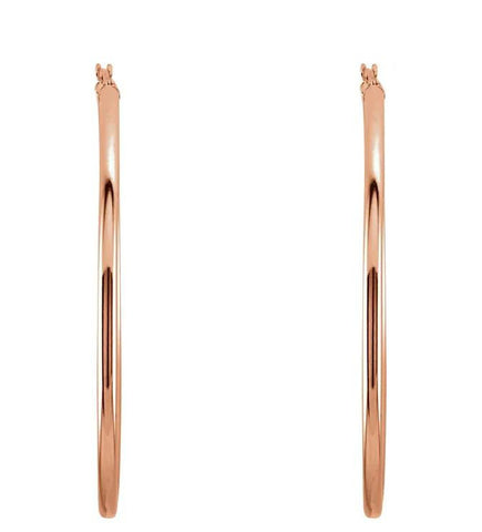 Large Classic Gold Tube Earrings