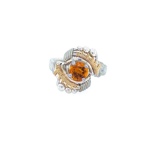 Andromeda Citrine Ring