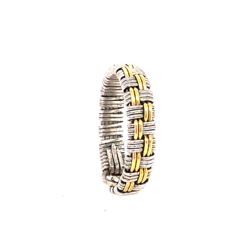 Basket Weave Band Ring