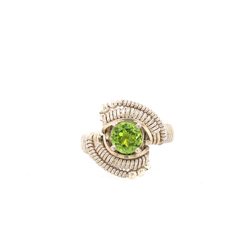 Ring Classic Beaded Peridot