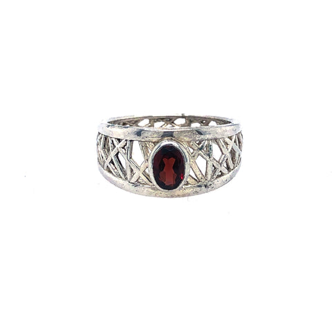 Garnet Petite Connection Ring