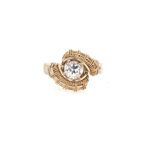 Pulse White Topaz Ring