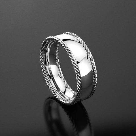 Classic Rope Men's Wedding Band