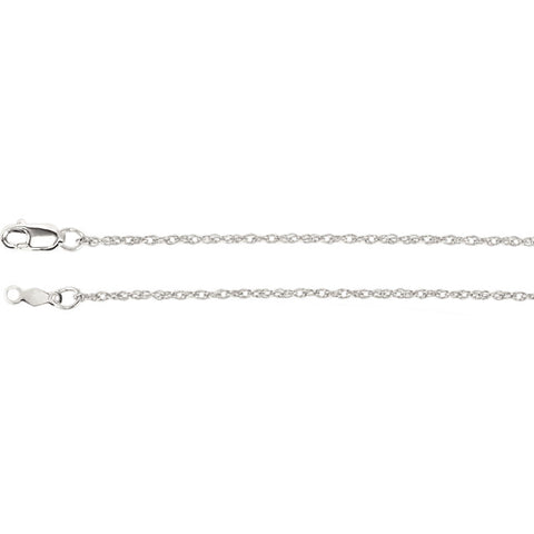 Sterling Silver 1.25mm Rope Chain