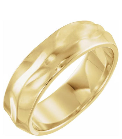 Organic Free Form Men's Wedding Band