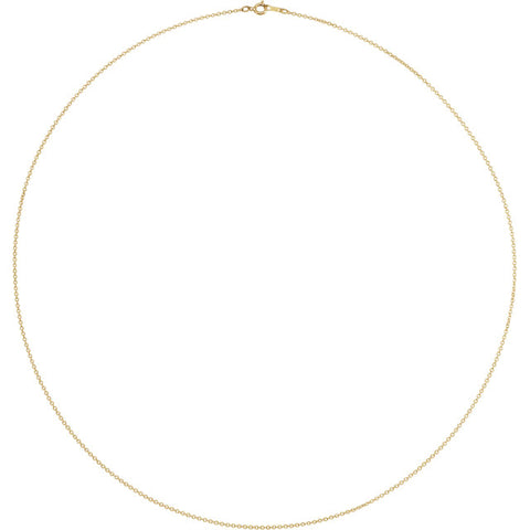 14K Yellow Gold Filled 1mm Cable Chain