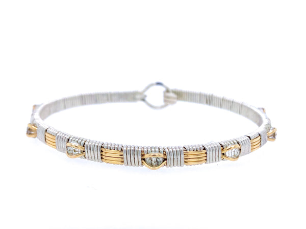 White Topaz Classic Bangle Bracelet