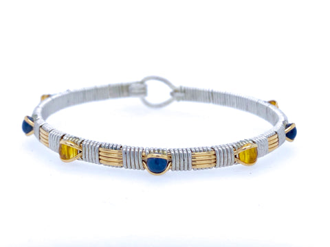 College Colors Classic Gemstone Bangle (University of Virginia)