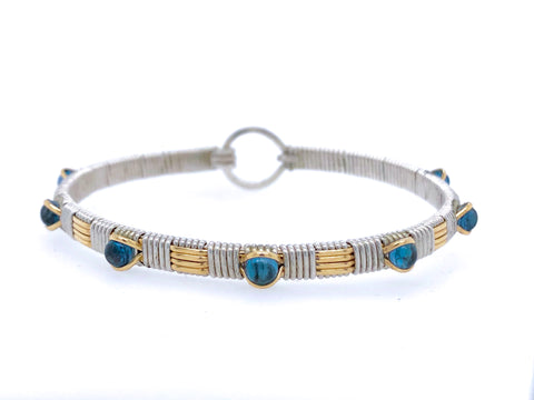 London Blue Topaz Classic Gemstone Bangle