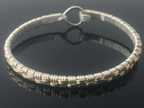 Basket Weave Bangle Bracelet
