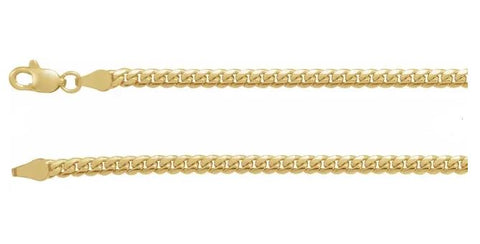 14 Karat Yellow Gold Cuban Link Chain