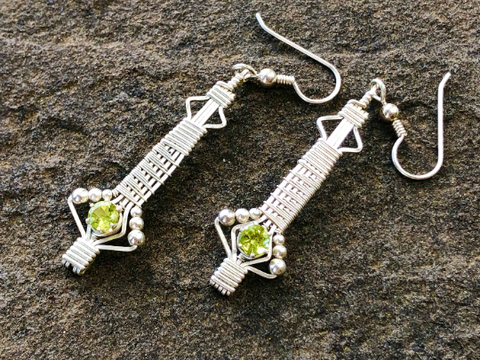 Tribe Peridot Earrings