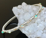 Opal Petite Classic Gemstone Bangle Bracelet