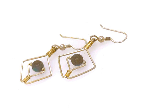 Centered Earrings (Choose Stone)