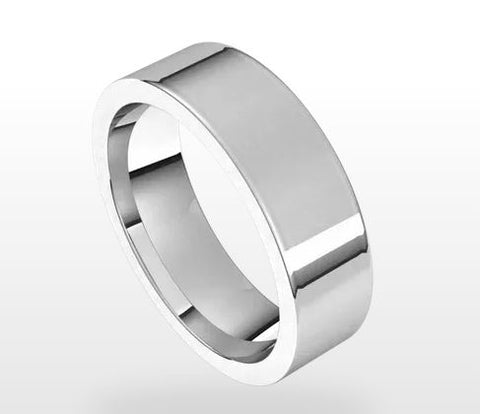 Flat Comfort Fit Men's Wedding Band
