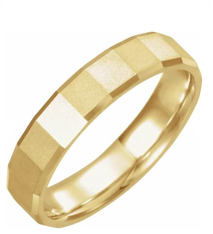Geometric Pattern Men's Wedding Band