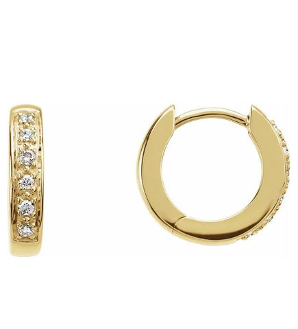 Hinged Diamond Hoop Earrings