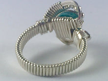 Load image into Gallery viewer, Malachite Ring Wire Wrapped Argentium Fine Silver