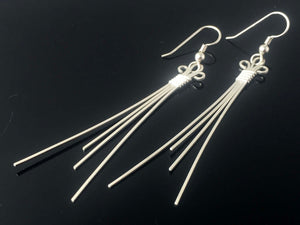 Silver Earrings Wire Wrapped Jewelry Precious Metal Jewelry