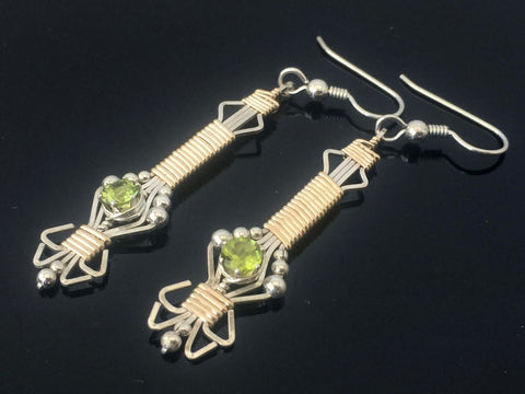 Gemstone Byzantine Earrings
