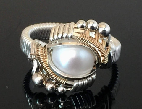 Andromeda Fresh Water Pearl Ring