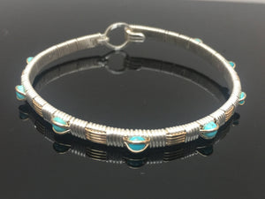 Classic Turquoise Gemstone Bangle Bracelet