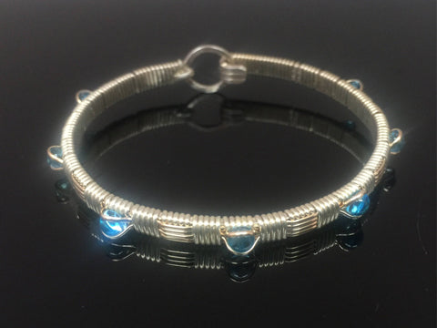 Blue Topaz Classic Gemstone Bangle