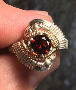 Orion Wrapped Almandine Garnet Ring