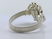 Load image into Gallery viewer, Classic Bead Wire Wrapped Amethyst Ring Oval Gemstone